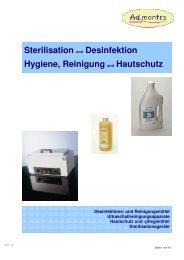 Sterilisation Desinfektion Hygiene, Reinigung ... - ad-montes.ch