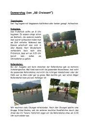 """Donnerstag (von """"SG Croissant"""") - Kreisschule Rheintal-Studenland"""