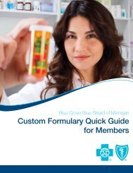 BCBS Michigan Custom Formulary Quick Guide - St. Clair County