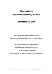Observatorium Sport und Bewegung Schweiz ... - sportobs.ch