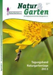 Tagungsband Naturgartentage 2011 - Naturgarten eV