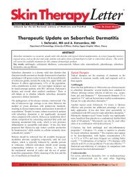 Therapeutic Update on Seborrheic Dermatitis - Skin Therapy Letter