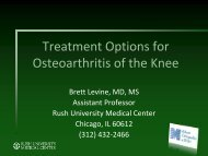 Treatment Options for Osteoarthritis of the Hip and Knee