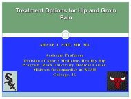 Treatment Options for Hip Pain - Rush University Medical Center