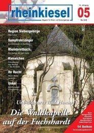 Die Waldkapelle auf der Fuchshardt Die Waldkapelle ... - Rheinkiesel