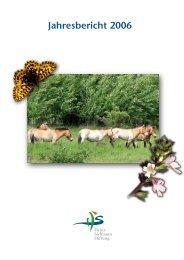 Jahresbericht 2006 - Heinz Sielmann Stiftung