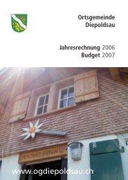 Ortsgemeinde Diepoldsau Jahresrechnung 2006 Budget 2007