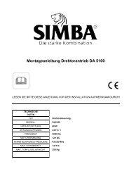 Montageanleitung Drehtorantrieb DA 5100 - Genie + Simba