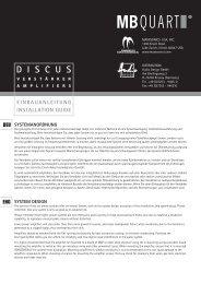 EINBAUANLEITUNG INSTALLATION GUIDE - Audio Design GmbH
