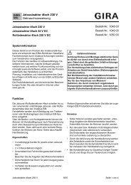 Jalousieaktor 4fach 230 V Gebrauchsanweisung - Download - Gira