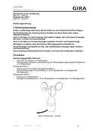 1 Sicherheitshinweise 2 Funktion KNX/EIB - Download - Gira