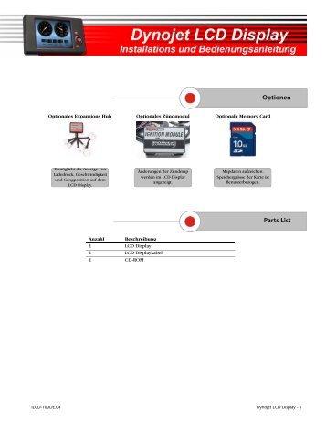 Dynojet LCD Display Installations und Bedienungsanleitung - Power ...