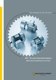 Bedienungsanleitung Elektromotoren - Walther Flender