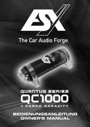 bedienungsanleitung owner's manual - ESX Car Audio Systems