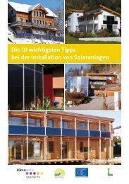 Die 10 wichtigsten Tipps bei der Installation von ... - Austria Solar