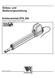 und Bedienungsanleitung Drehtorantrieb DTA 200 - Rademacher