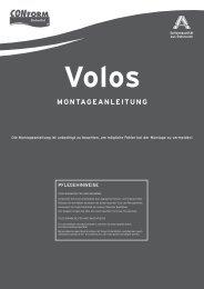 Volos MONTAGEANLEITUNG - Conform Badmöbel