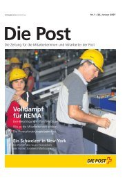 Volldampf für REMA - Die Schweizerische Post
