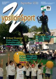 September 2011 ypsilonSport - SV Bayer Wuppertal
