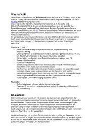 Was ist VoIP Ist-Zustand - FernUniversität in Hagen