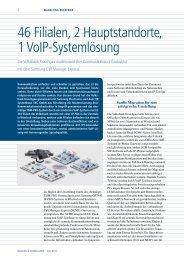 46 Filialen, 2 Hauptstandorte, 1 VoIP-Systemlösung