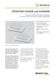 GPON-ONT C624GB und C624WGB - KEYMILE