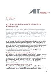 Press Release AIT und BOKU erweitern strategische Partnerschaft ...