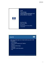 2G02 VoIP - Implementationsbeispiel und wirtschaftliche Aspekte