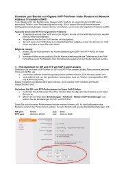 Hinweise zum Betrieb von Gigaset VoIP Telefone hinter