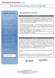 VPN Standortvernetzung & VoiP via LANCOM