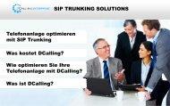 SIP TRUNKING SOLUTIONS Telefonanlage optimieren mit SIP ...