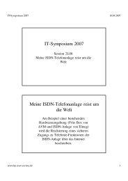 IT-Symposium 2007 Meine ISDN-Telefonanlage reist um die Welt