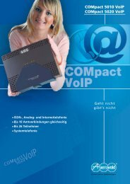 COMpact 5010 VoIP COMpact 5020 VoIP
