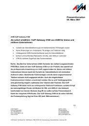 Presseinformation 08. März 2007 Ab sofort erhältlich: VoIP ... - AVM