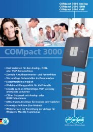 COMpact 3000 analog I ISDN I VoIP...