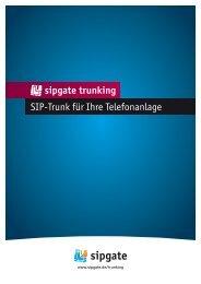 SIP-Trunk für Ihre Telefonanlage trunking - Sipgate