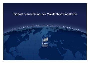 Digitale Vernetzung der Wertschöpfungskette