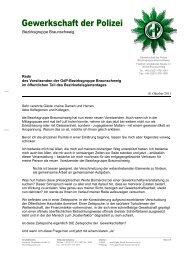 Gewerkschaft der Polizei - GdP-Kreisgruppe Salzgitter