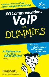 VoIP for Dummies Book - XO Communications