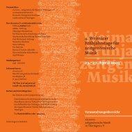 27. April 2003 - via nova - zeitgenössische Musik in Thüringen ev