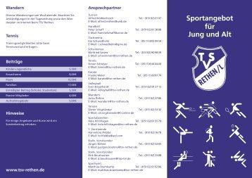 Sportangebot für Jung und Alt - TSV Rethen