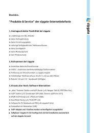 """""""Produkte & Service"""" der sipgate-Internettelefonie"""