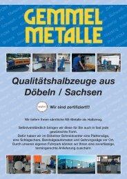 Qualitätshalbzeuge aus Döbeln / Sachsen Wir ... - Gemmel Metalle