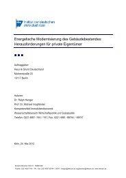 Energetische Modernisierung des Gebäudebestandes - Institut der ...