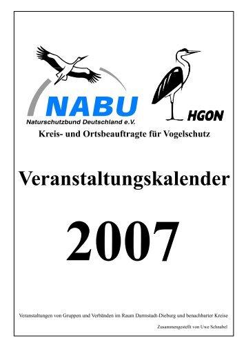 Veranstaltungskalender 2007 - NABU-Altkreis Dieburg