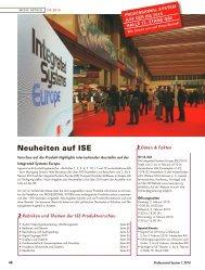 Neuheiten auf ISE 2010 - Pro Media News