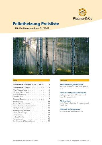Pelletheizung Preisliste
