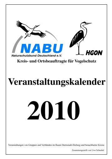 Veranstaltungskalender 2010 - NABU Kreisverband Dieburg