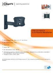 LCD/Plasma-Wandhalter VFW 332 BLACK - Ingram Micro