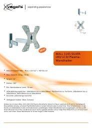 LED/LCD/Plasma- Wandhalter WALL 1145 SILVER